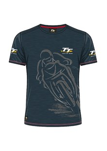 TT Shadow Bike Custom T-Shirt Navy