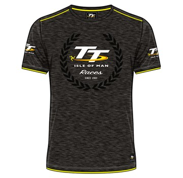 TT Isle of Man Race Custom T-Shirt Yellow Trim - click to enlarge