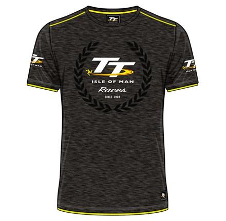 TT Isle of Man Race Custom T-Shirt Yellow Trim