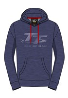 TT Hoodie Blue with Light Blue Logo