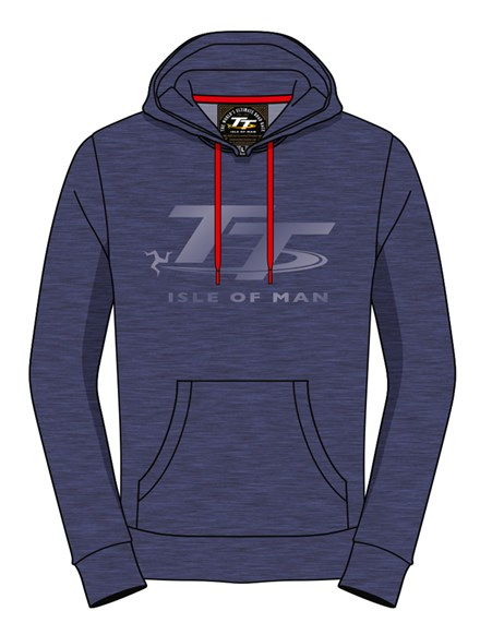 TT Hoodie Blue with Light Blue Logo - click to enlarge