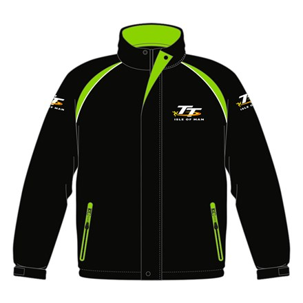 TT Padded Jacket with Black and GreenTrim - click to enlarge