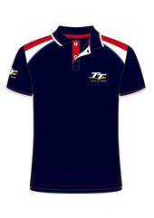 TT Polo Navy, with Red/White Shoulder