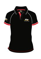 TT Polo Black with Red/White Trim