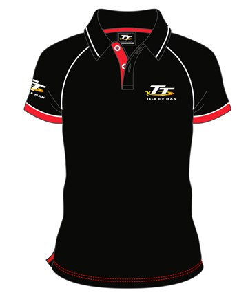 TT Polo Black with Red/White Trim - click to enlarge