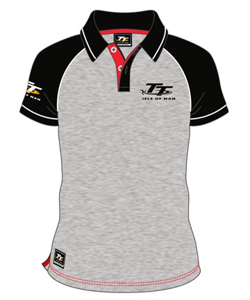 TT Polo Grey, Black Sleeve - click to enlarge