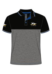 TT Polo Black and Dark Grey
