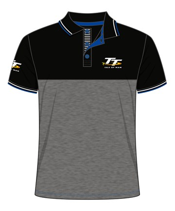 TT Polo Black and Dark Grey - click to enlarge