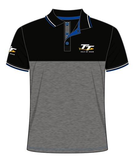 TT Polo Black and Dark Grey