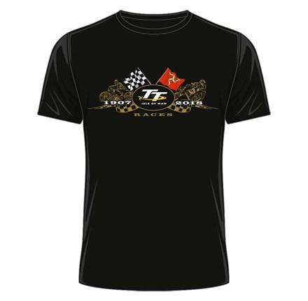 TT 2018 Gold Bikes T-shirt Black