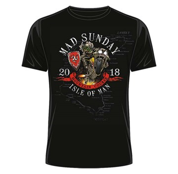 TT 2018 Mad Sunday T-Shirt Black - click to enlarge