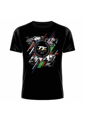 TT 2018 Laurel Badge, Green Red and Blue Stripe T-Shirt