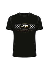 TT 2018 TT Logo Check Design T-Shirt Black