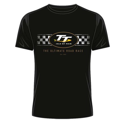 TT 2018 TT Logo Check Design T-Shirt Black