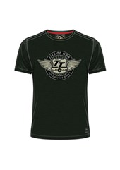TT Wings Vintage T-Shirt Green Marl