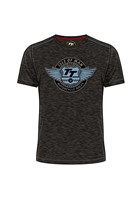 TT Wings Vintage T-Shirt Black Marl