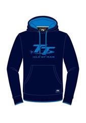 TT Ladies Hoodie Navy, Blue Logo