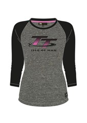 TT Ladies Long Sleeved T-Shirt Grey