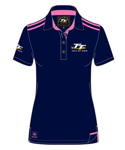 TT Ladies Polo Navy/Pink