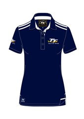 TT Ladies Polo Navy/White