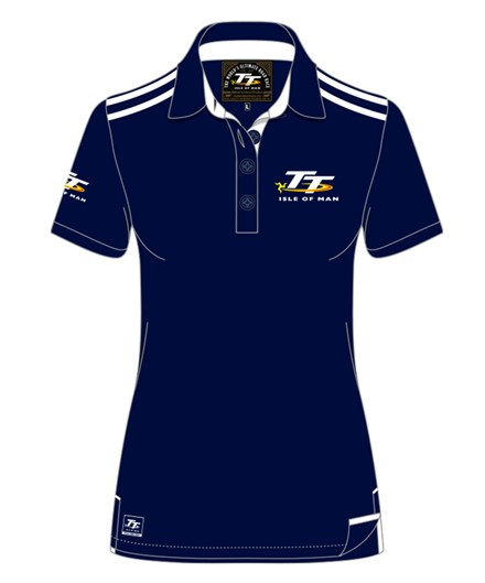 TT Ladies Polo Navy/White - click to enlarge