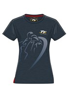 TT Ladies Navy Shadow T- Shirt