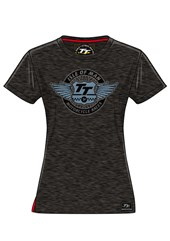 TT Wings Ladies T-Shirt Black