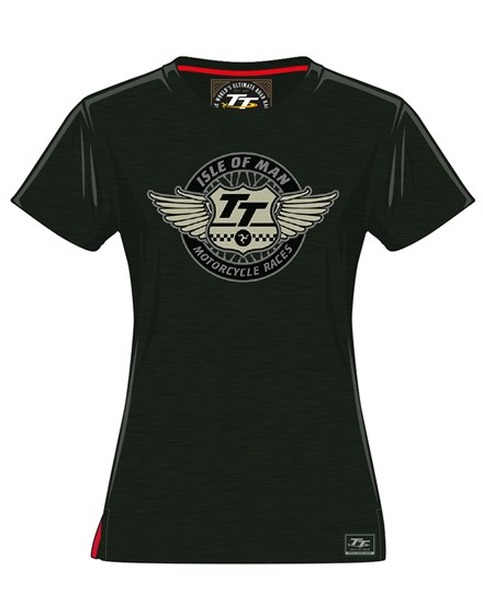 TT Wings Ladies T-Shirt Green - click to enlarge