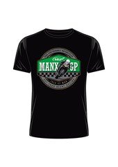 Manx Grand Prix- Get your Heart Racing T-Shirt Black