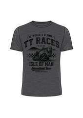The World's Ultimate TT Races T-Shirt Charcoal