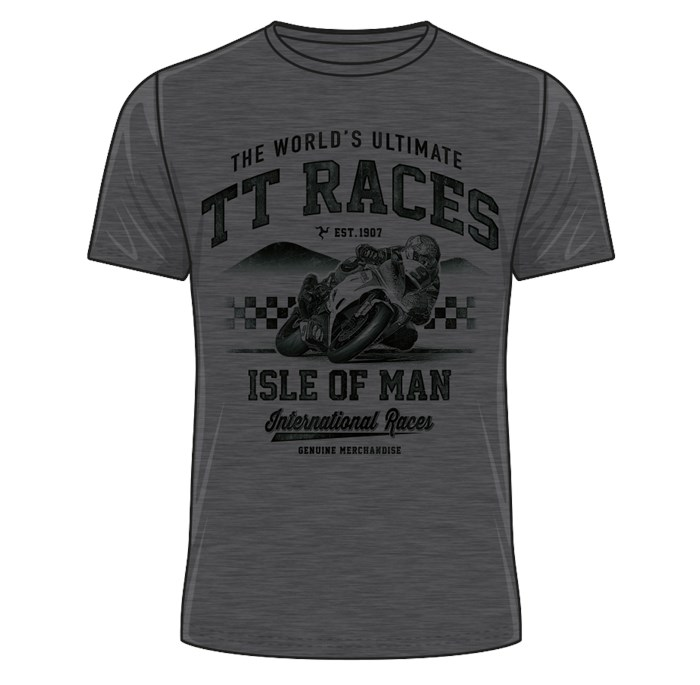 The World's Ultimate TT Races T-Shirt Dark Heather - click to enlarge