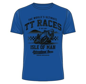 The World's Ultimate TT Races T-Shirt Royal Blue - click to enlarge
