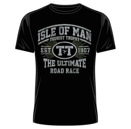IOM TT Est 1907 Retro T-Shirt Black - click to enlarge