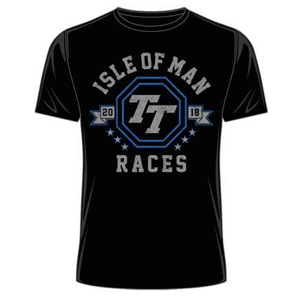 Isle of Man 2018 TT Races Octagon T-Shirt Black - click to enlarge