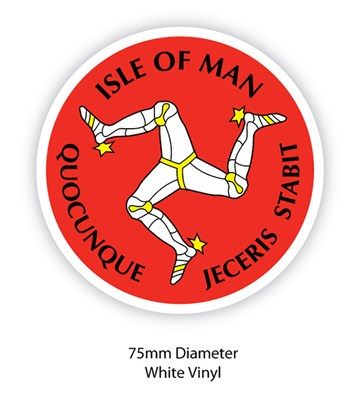 Isle of Man Three Legs Sticker - click to enlarge