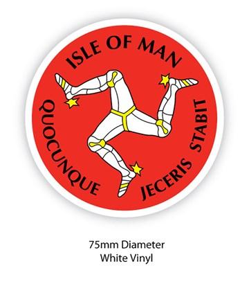 Isle of Man Three Legs Sticker - click to enlarge