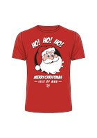 Ho Ho Ho Merry Christmas Isle of Man T-Shirt Red