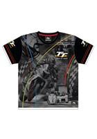 TT All over Print Childs T-Shirt Multi Coloured Stripes