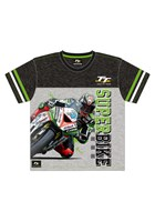 TT Childs Custom Superbike T-Shirt Green Trim