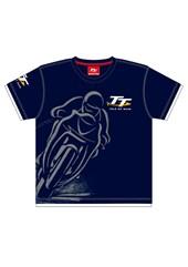 TT Childs Custom T-Shirt Navy Shadow Bike