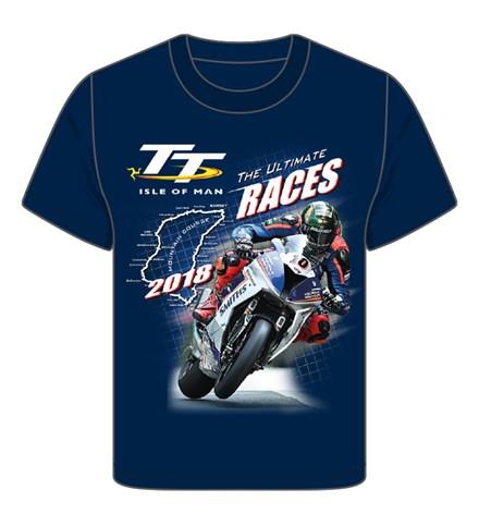 TT 2018 Bike 10 Childs T-Shirt Navy - click to enlarge