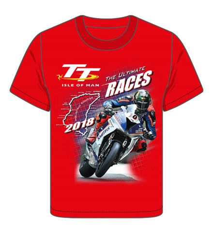 TT 2018 Bike 10 Childs T-Shirt Red - click to enlarge