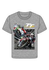 TT 2 Bikes Childs T- Shirt Grey