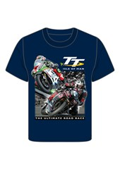 TT 2 Bikes Childs T- Shirt Navy
