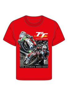 TT 2 Bikes Childs T- Shirt Red