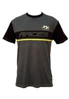 TT Custom T-Shirt  Dark Heather Yellow Stripe
