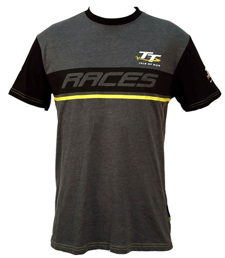 TT Custom T-Shirt  Dark Heather Yellow Stripe - click to enlarge