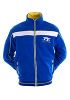 TT Fleece, Blue & White, Yellow Stripe