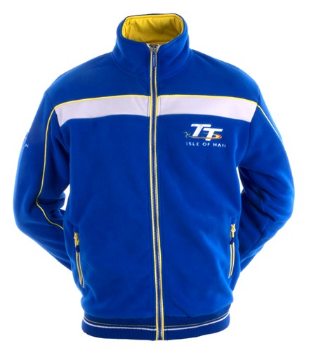 TT Fleece, Blue & White, Yellow Stripe - click to enlarge