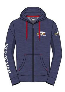 TT Hoodie Navy with Red Drawstring